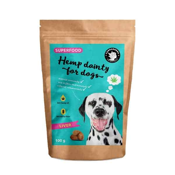 Hemp Dainty for Dogs - Liver Flavor, 100g