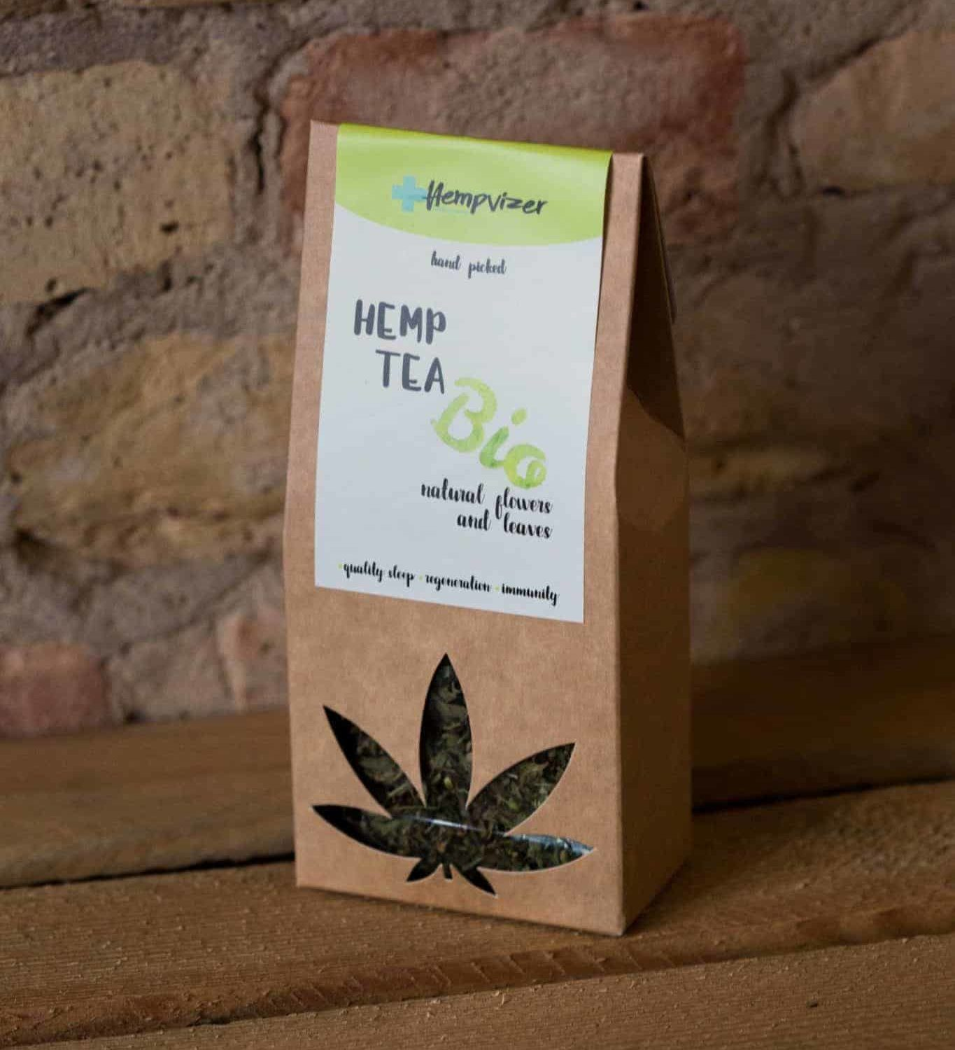 Hempvizer BIO Hemp tea - leafs and buds, 30g