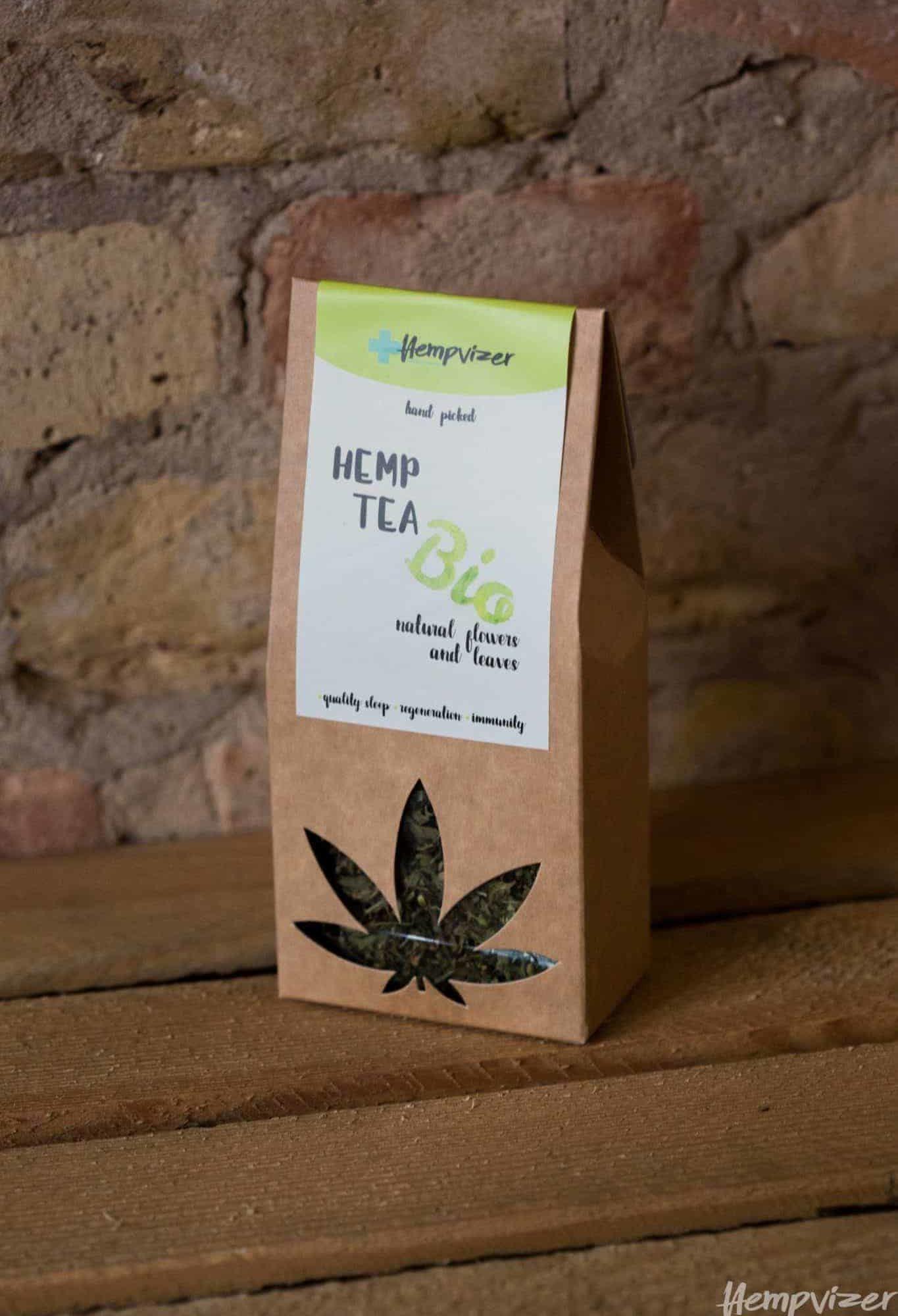 Hempvizer BIO Hemp tea - leafs and buds, 30g