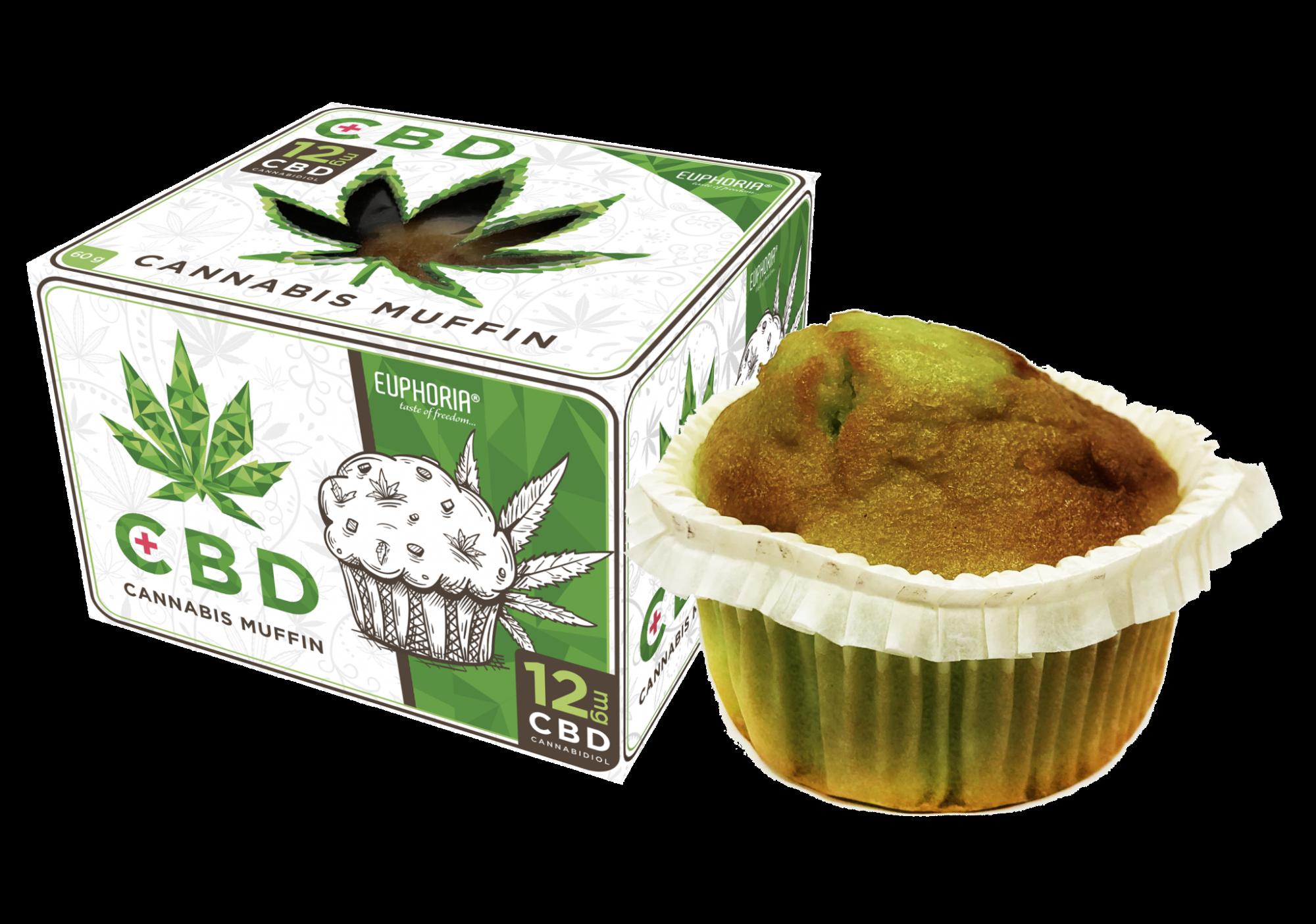 CBD Cannabis muffin with 12 mg