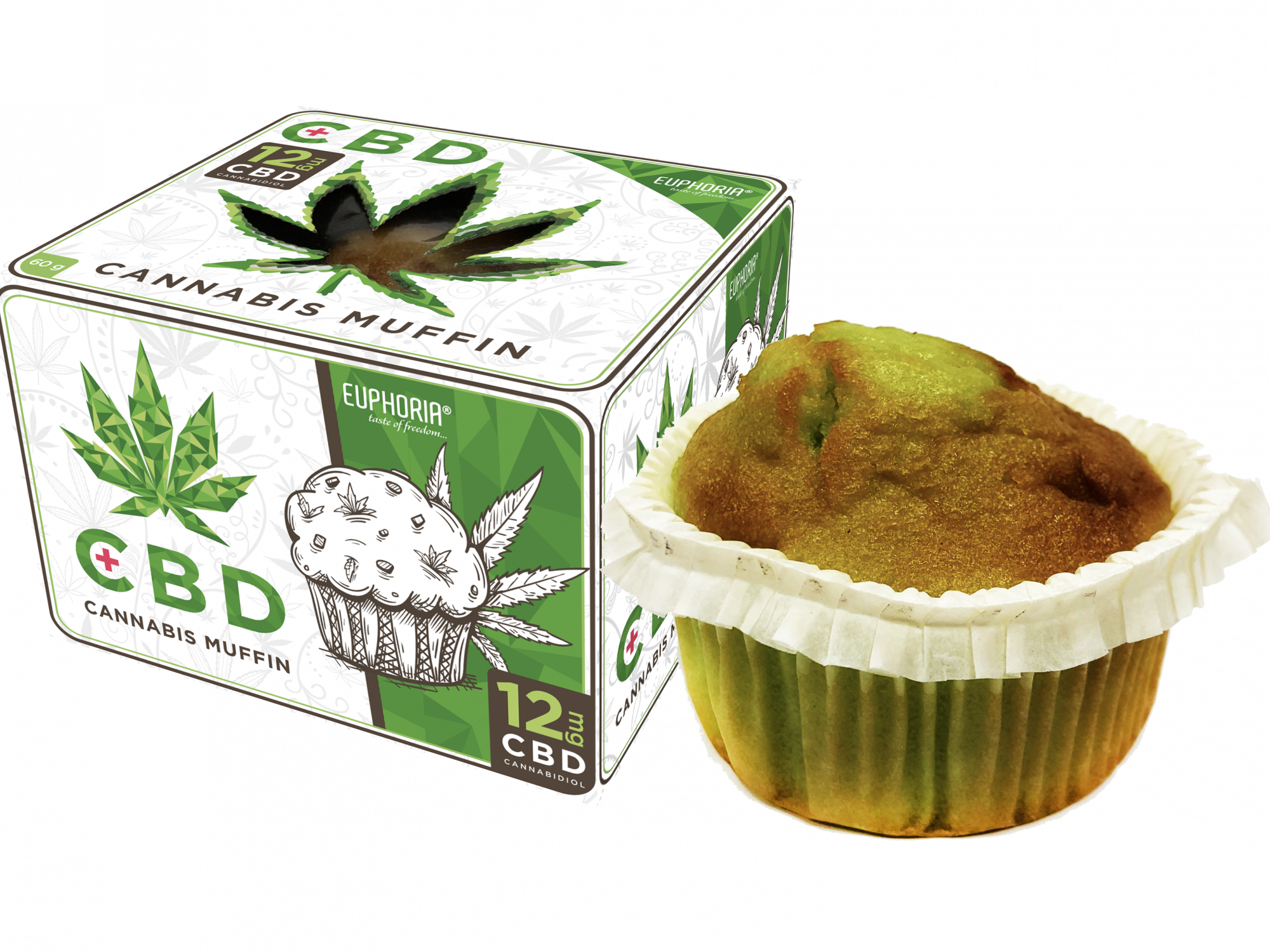 CBD Cannabis muffin with 12 mg
